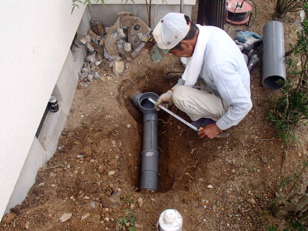 汚水配管取り替え